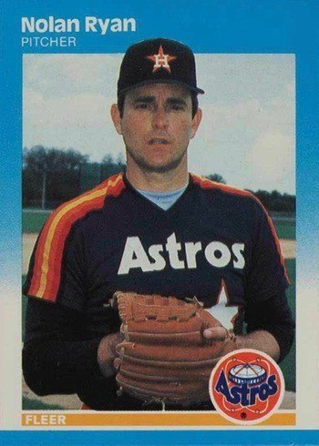1987 Fleer #67 Nolan Ryan Baseball Card