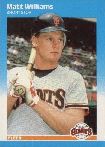 1987 Fleer Update #U129 Matt Williams Rookie Card