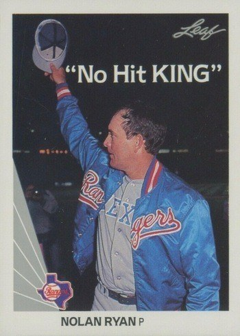 1990 Leaf #265 Nolan Ryan No Hit King Baseball Card