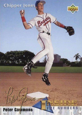 1993 Upper Deck #459 Chipper Jones Inside the Numbers Baseball Card
