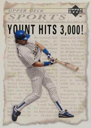 1993 Upper Deck #SP5 Robin Yount 3000 Hits Baseball Card