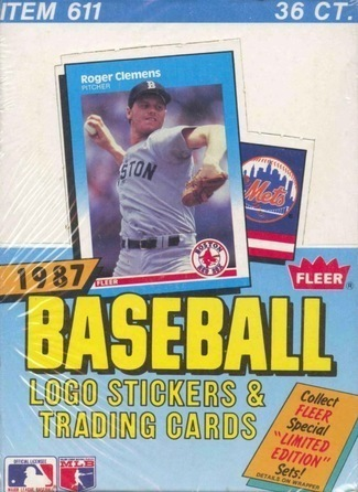 Unopened Box of 1987 Fleer Baseball Cards