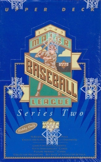 Unopened Box of 1993 Upper Deck Baseball Cards