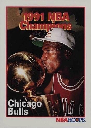 1991 NBA Hoops #543 Bulls NBA Champions Michael Jordan Basketball Card