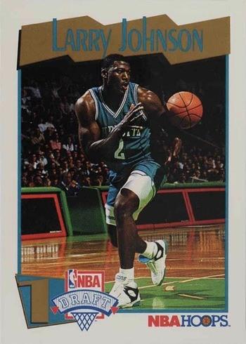 1991 NBA Hoops #546 Larry Johnson Rookie Card