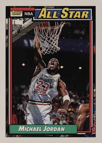 1992 Topps #115 Michael Jordan All-Star Basketball Card