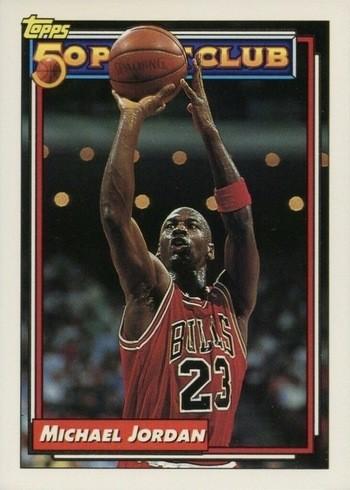 1992 Topps #204 Michael Jordan 50 Point Club Basketball Card
