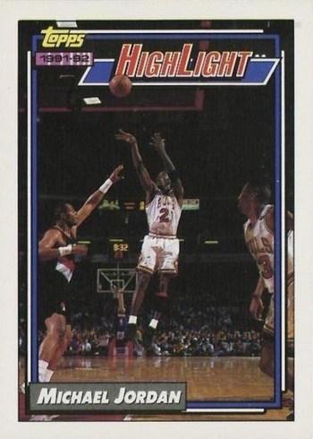 1992 Topps #3 Michael Jordan Highlights Basketball Card