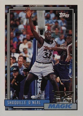 1992 Topps #362 Shaquille O'Neal Rookie Card