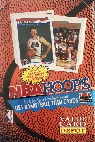 Unopened Box of 1991 NBA Hoops Basketball Cards