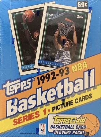 Unopened Box of 1992 Topps Basketball Cards