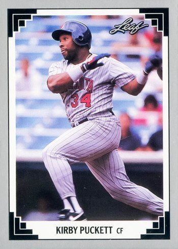 1991 Leaf #208 Kirby Puckett Baseball Card
