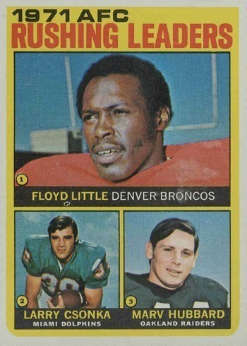 1972 Topps #1 AFC Rushing Leaders Football Card