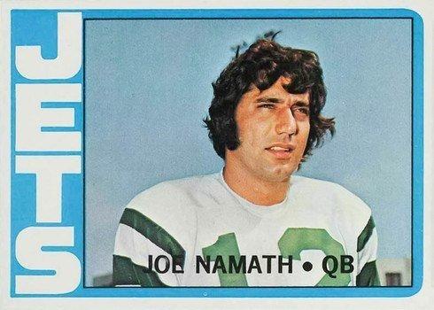 1972 Topps #100 Joe Namath Football Card
