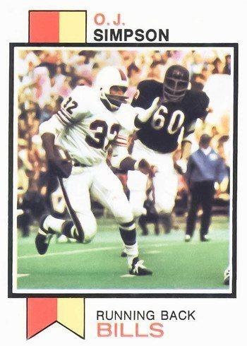 1973 Topps #500 O.J. Simpson Football Card