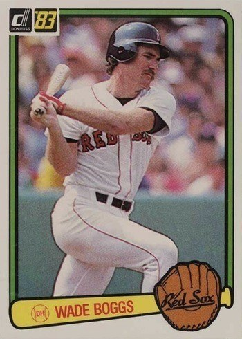 1983 Donruss #586 Wade Boggs Rookie Card