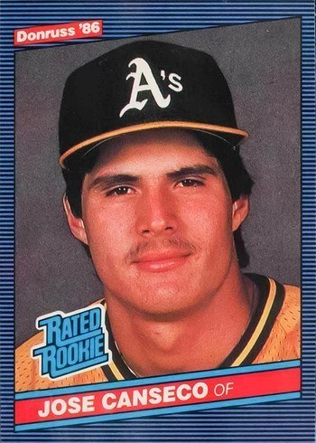 1986 Donruss #39 Jose Canseco Rookie Card