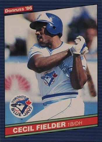 1986 Donruss #512 Cecil Fielder Rookie Card