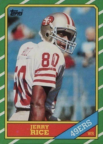 1986 Topps #161 Jerry Rice Rookie Card