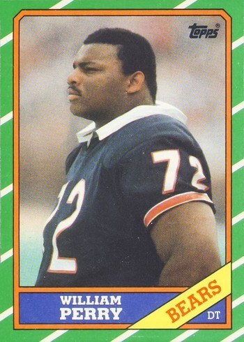1986 Topps #20 William Perry Rookie Card