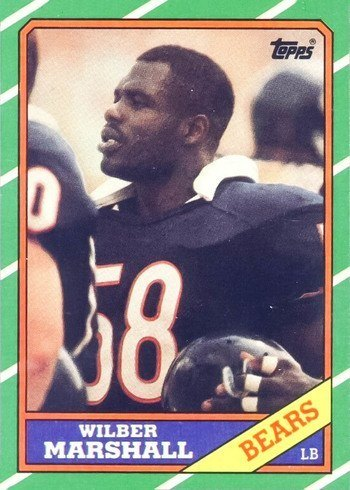 1986 Topps #25 Wilber Marshall Rookie Card