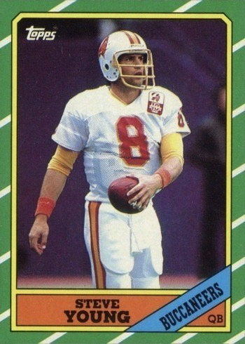 1986 Topps #374 Steve Young Rookie Card