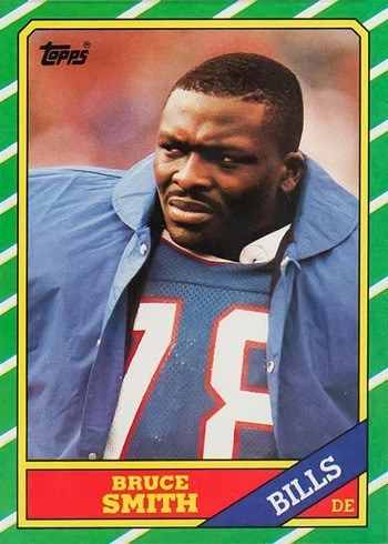 1986 Topps #389 Bruce Smith Rookie Card