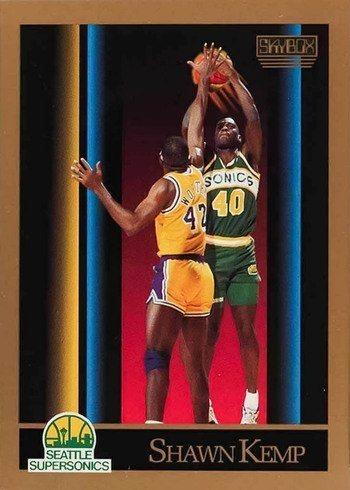 1990 Skybox #268 Shawn Kemp Rookie Card