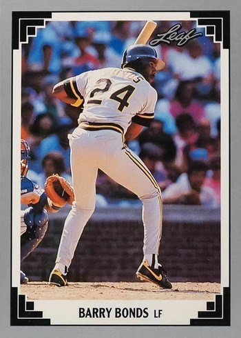 1991 Leaf #261 Barry Bonds Baseball Card