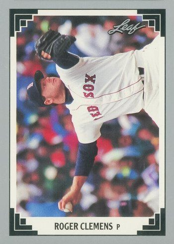 1991 Leaf #488 Roger Clemens Baseball Card