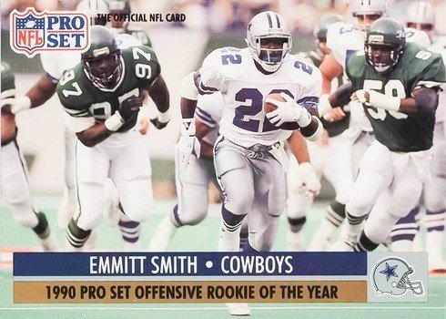 1991 Pro Set #1 Emmitt Smith Football Card