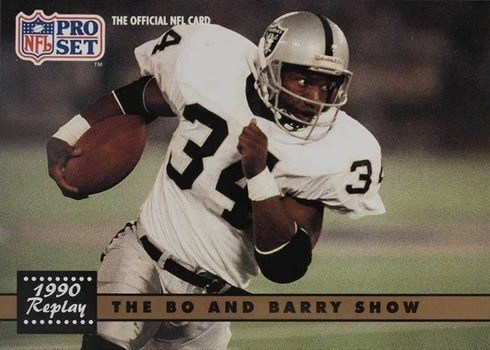 1991 Pro Set #335 Bo and Barry Show Football Card