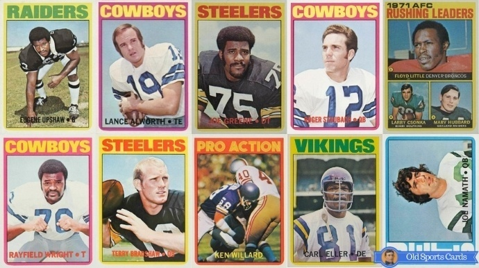 Most Valuable 1972 Topps Football Cards