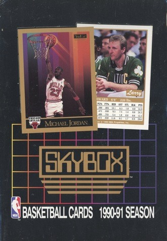 Unopened Box of 1990 Skybox Basketball Cards