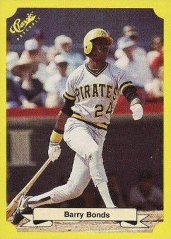 1987 Classic Travel Update Yellow #113 Barry Bonds Rookie Card