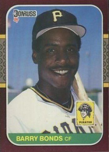 1987 Donruss Opening Day #163 Barry Bonds Rookie Card Correct Version With Bonds On Front