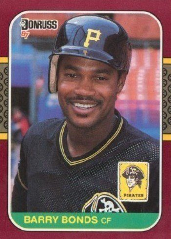 1987 Donruss Opening Day #163 Barry Bonds Rookie Card Error Version With Johnny Ray On Front