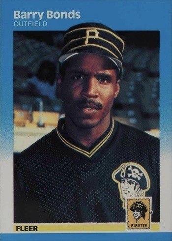 1987 Fleer #604 Barry Bonds Rookie Card