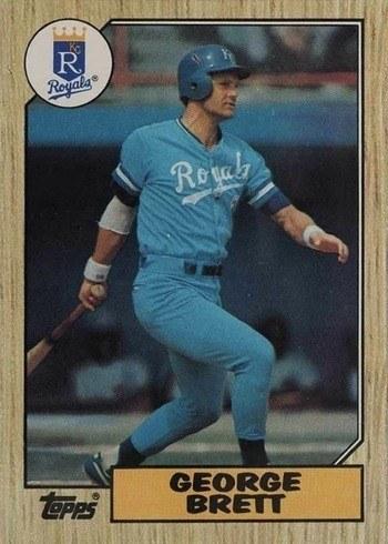 1987 Topps #400 George Brett Baseball Card