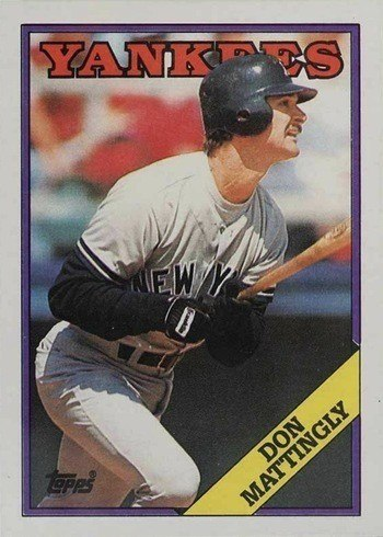 1988 Topps #300 Don Mattingly Baseball Card