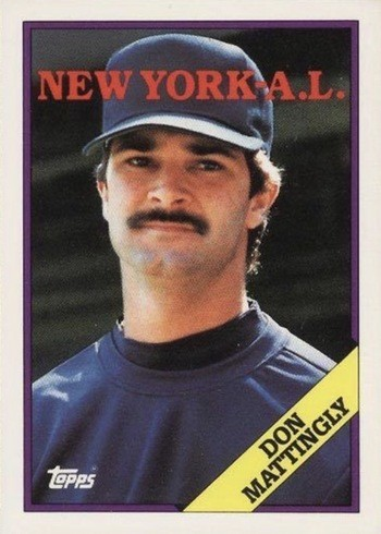 1988 Topps #300 Don Mattingly Special World of Baseball Card
