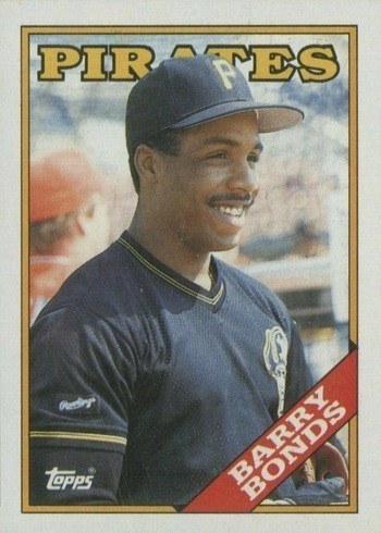 1988 Topps #450 Barry Bonds Baseball Card