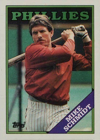 1988 Topps #600 Mike Schmidt Baseball Card