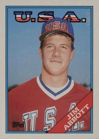 1988 Topps Traded #1T Jim Abbott Rookie Card