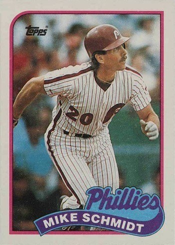1989 Topps #100 Mike Schmidt Baseball Card