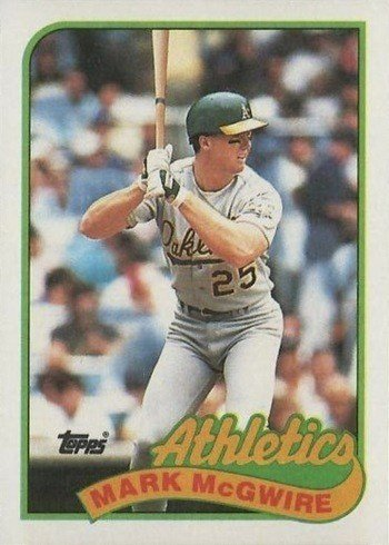 1989 Topps #70 Mark McGwire Baseball Card