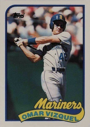 1989 Topps Traded #122T Omar Vizquel Rookie Card
