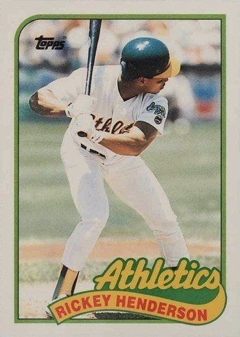 1989 Topps Traded #48T Rickey Henderson Baseball Card