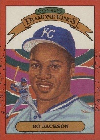 1990 Donruss #1 Bo Jackson Diamond Kings Baseball Card