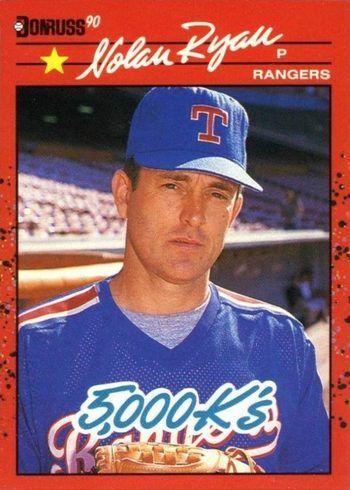 1990 Donruss #659 Nolan Ryan 5000 Strikeouts Baseball Card
